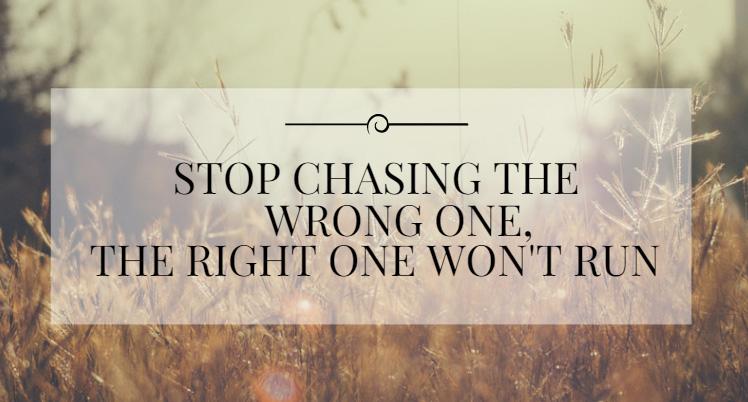 chasing wrong